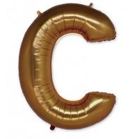 Фольгированная Буква С золото (102 см)